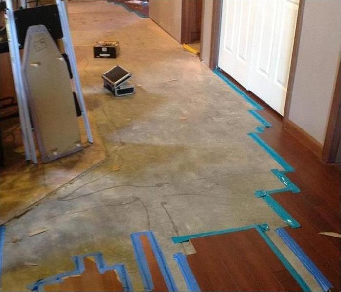 Water Damaged Laminate Flooring in West Palm Beach