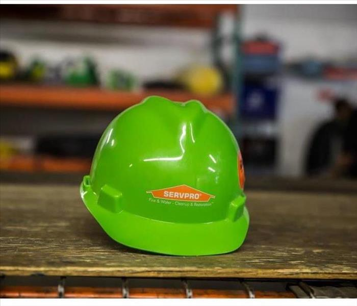 SERVPRO green construction hat