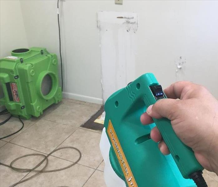 odor removal equipment being used